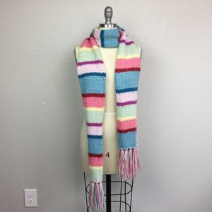 • NEW YORK & COMPANY • Bright Striped Knit Scarf